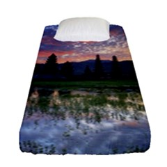 Tamblingan Morning Reflection Tamblingan Lake Bali  Indonesia Fitted Sheet (single Size)