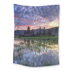Tamblingan Morning Reflection Tamblingan Lake Bali  Indonesia Medium Tapestry