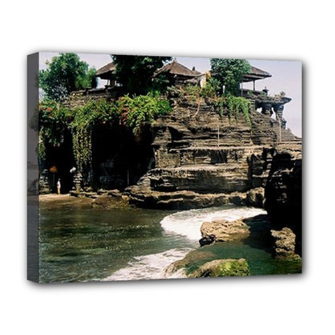 Tanah Lot Bali Indonesia Deluxe Canvas 20  X 16   by Nexatart