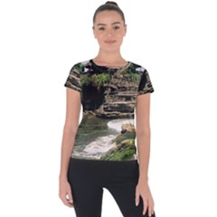 Tanah Lot Bali Indonesia Short Sleeve Sports Top