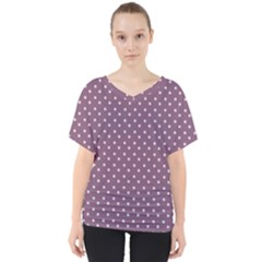 Polka Dots V Neck Dolman Drape Top by ChihuahuaShower