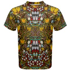Fantasy Forest And Fantasy Plumeria In Peace Men s Cotton Tee by pepitasart