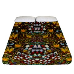 Fantasy Forest And Fantasy Plumeria In Peace Fitted Sheet (california King Size) by pepitasart