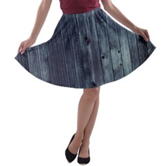 Grey Fence 2 A Line Skater Skirt by trendistuff