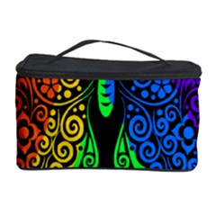 Rainbow Butterfly  Cosmetic Storage Case by Valentinaart
