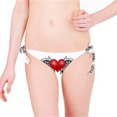 Angel Heart Tattoo Bikini Bottom by Valentinaart