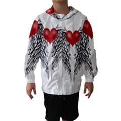 Angel Heart Tattoo Hooded Wind Breaker (kids)