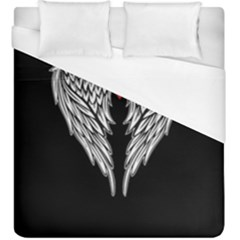 Angel Heart Tattoo Duvet Cover (king Size) by Valentinaart