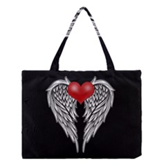 Angel Heart Tattoo Medium Tote Bag by Valentinaart