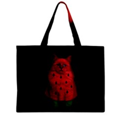 Watermelon Cat Zipper Mini Tote Bag