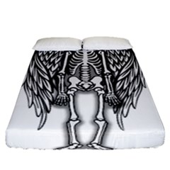 Angel Skeleton Fitted Sheet (queen Size) by Valentinaart