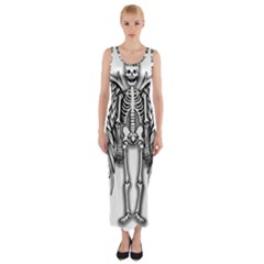 Angel Skeleton Fitted Maxi Dress