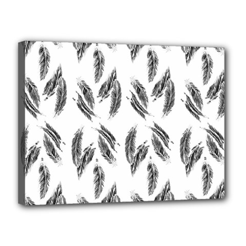 Feather Pattern Canvas 16  X 12  by Valentinaart