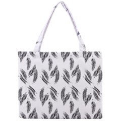 Feather Pattern Mini Tote Bag by Valentinaart