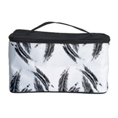 Feather Pattern Cosmetic Storage Case by Valentinaart