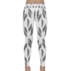 Feather Pattern Classic Yoga Leggings