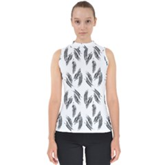 Feather Pattern Shell Top