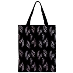 Feather Pattern Zipper Classic Tote Bag by Valentinaart
