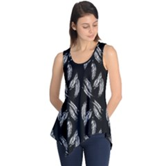 Feather Pattern Sleeveless Tunic