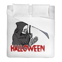 Death   Halloween Duvet Cover (full/ Double Size) by Valentinaart