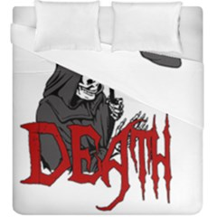 Death   Halloween Duvet Cover Double Side (king Size) by Valentinaart
