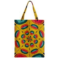 Textured Tropical Mandala Classic Tote Bag by linceazul