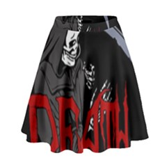 Death   Halloween High Waist Skirt by Valentinaart
