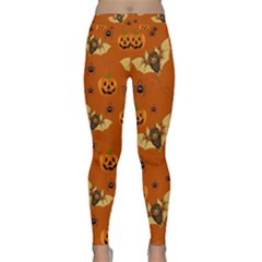 Bat, Pumpkin And Spider Pattern Classic Yoga Leggings