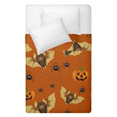 Bat, Pumpkin And Spider Pattern Duvet Cover Double Side (single Size) by Valentinaart