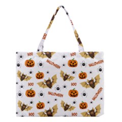 Bat, Pumpkin And Spider Pattern Medium Tote Bag by Valentinaart