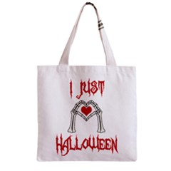 I Just Love Halloween Zipper Grocery Tote Bag
