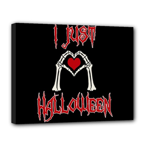I Just Love Halloween Canvas 14  X 11  by Valentinaart