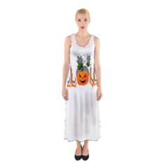 Halloween Sleeveless Maxi Dress
