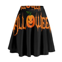 Halloween High Waist Skirt by Valentinaart