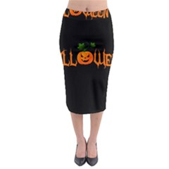 Halloween Midi Pencil Skirt by Valentinaart
