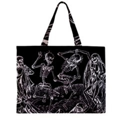 Skeletons   Halloween Zipper Mini Tote Bag by Valentinaart