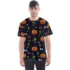 Pumpkins   Halloween Pattern Men s Sports Mesh Tee