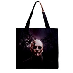 Zombie Zipper Grocery Tote Bag