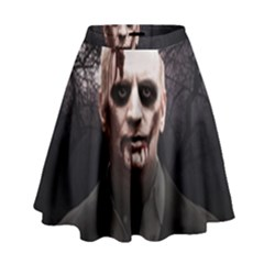 Zombie High Waist Skirt by Valentinaart