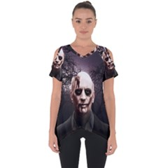 Zombie Cut Out Side Drop Tee