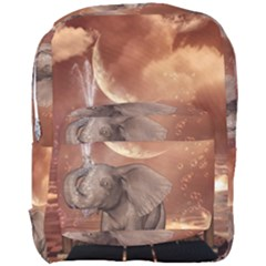 Cute Baby Elephant On A Jetty Full Print Backpack by FantasyWorld7
