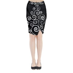 Abstract Spiral Christmas Tree Midi Wrap Pencil Skirt by Mariart