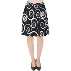 Abstract Spiral Christmas Tree Velvet High Waist Skirt by Mariart