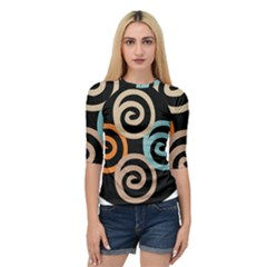 Abroad Spines Circle Quarter Sleeve Raglan Tee by Mariart