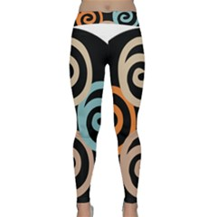 Abroad Spines Circle Classic Yoga Leggings by Mariart