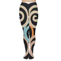 Abroad Spines Circle Women s Tights by Mariart