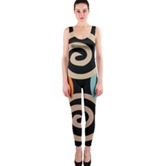 Abroad Spines Circle Onepiece Catsuit by Mariart