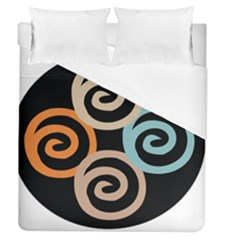 Abroad Spines Circle Duvet Cover (queen Size) by Mariart