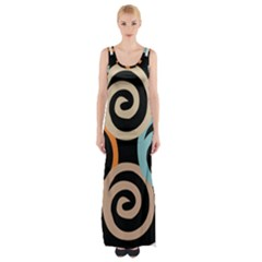 Abroad Spines Circle Maxi Thigh Split Dress by Mariart