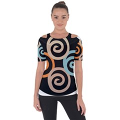 Abroad Spines Circle Short Sleeve Top by Mariart